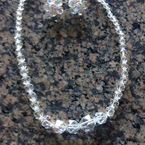 Crystal earrings and Crocker really crystal